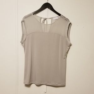 New york and company size large gray dress top